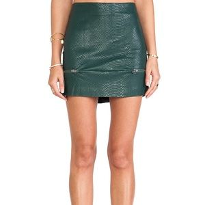 Lovers and friends leather skirt